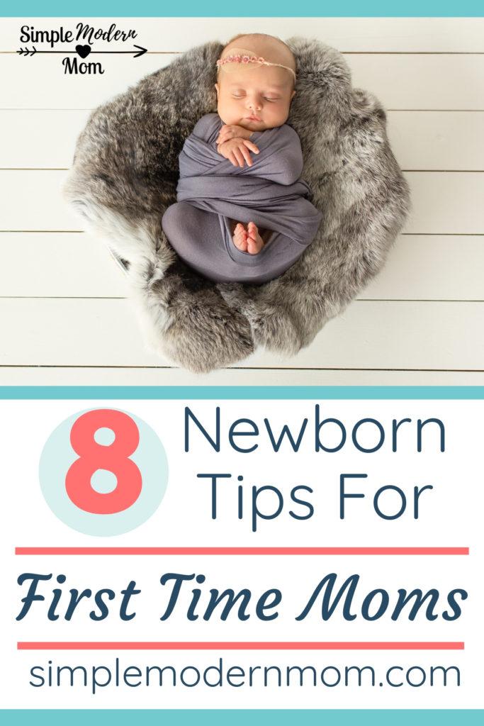 swaddled newborn in soft basket