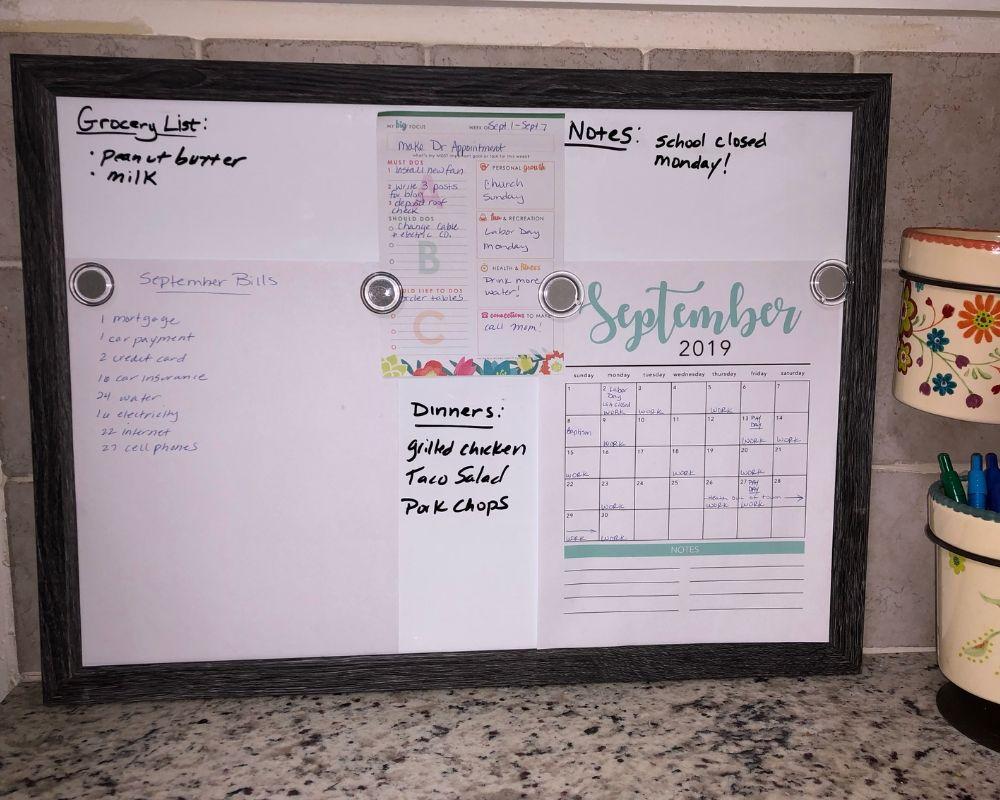 dry erase command board