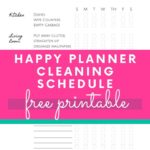 keeping a clean home daily checklist printable for happy planner