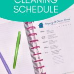 Happy planner cleaning schedule printable free