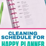 Keeping a clean home daily cleaning tracker printable