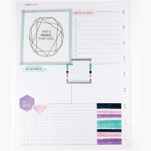 Happy Planner Dashboard layout she's magic sticker