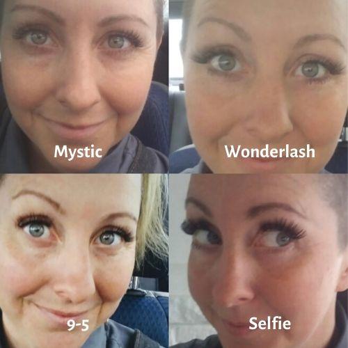 toribelle cosmetics magnetic eyelashes mystic, wonderlash, 9-5, selfie