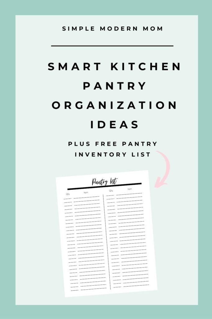 free pantry organization printable, pantry inventory list