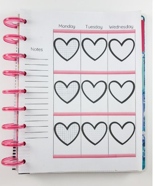happy planner decorated vertical layout