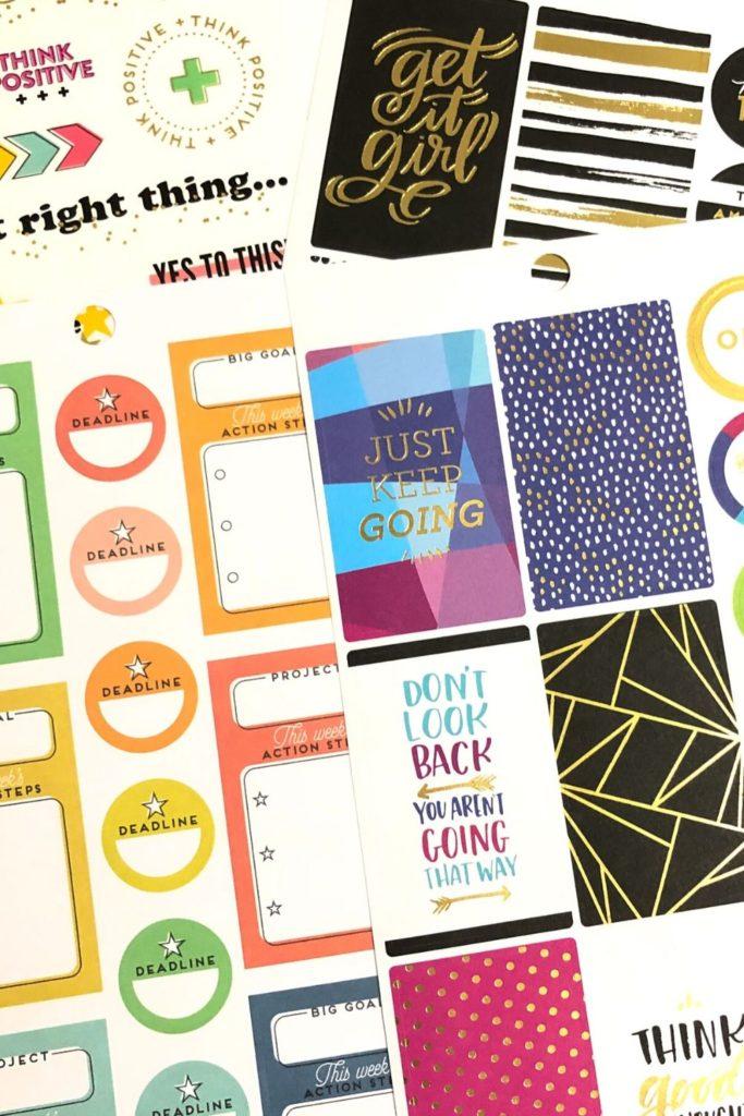 Happy Planner Sticker Storage Ideas