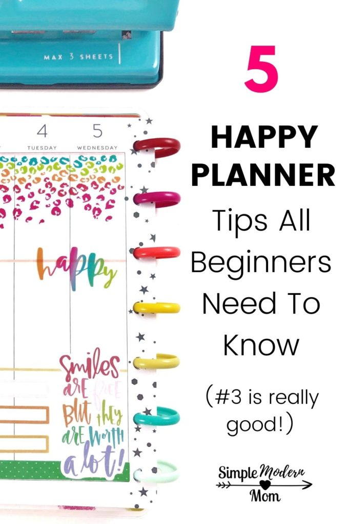 colorful cheetah print happy planner layout