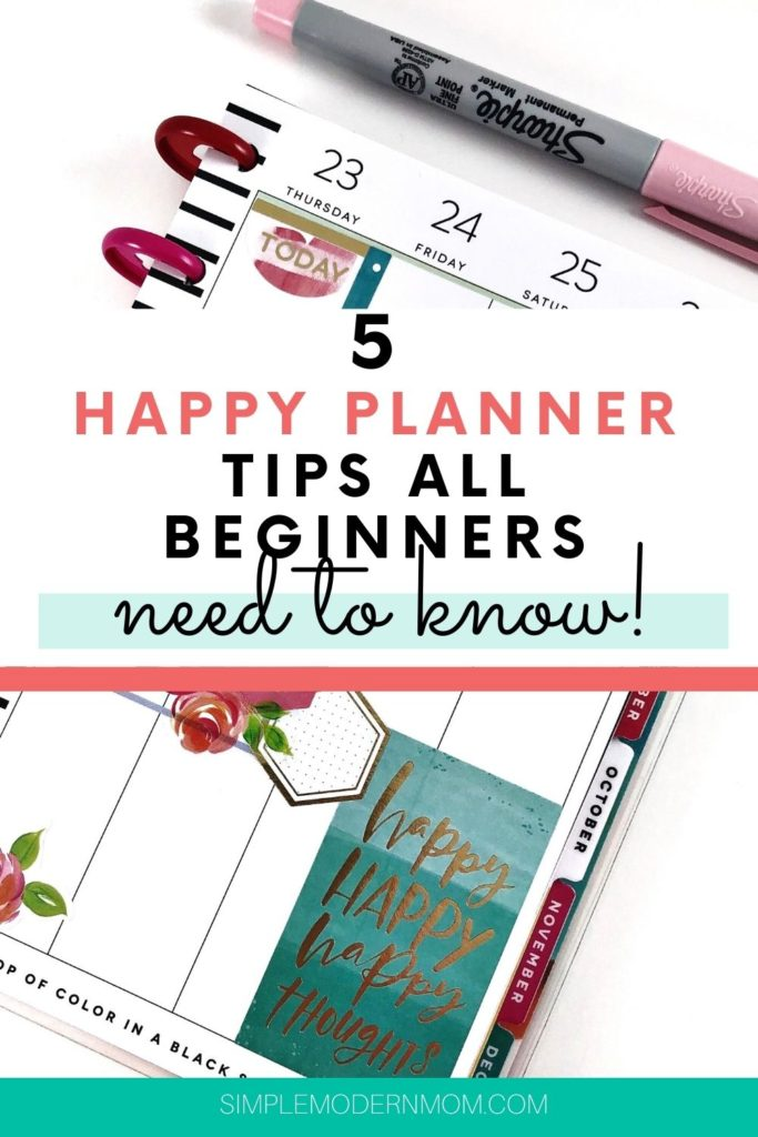 5 Tips All Happy Planner Beginners Need to Know (#3 is my favorite!)