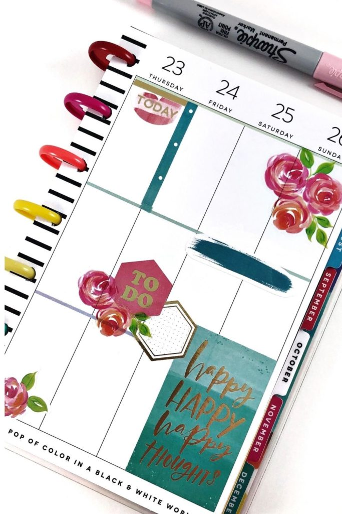 Happy Planner mini Rose layout