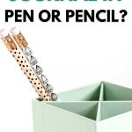 Should you journal in pen or pencil