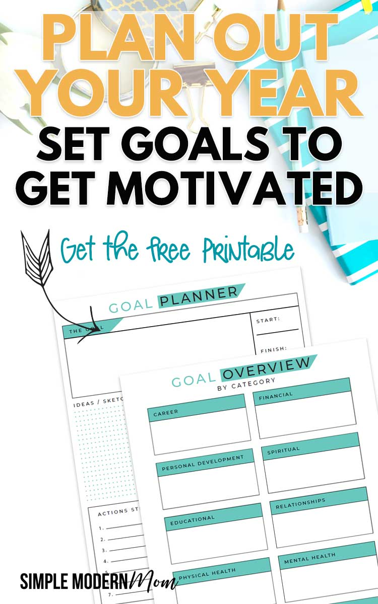 Teal Goal Setting Printable