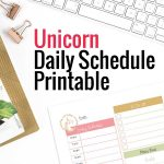 unicorn daily schedule printable