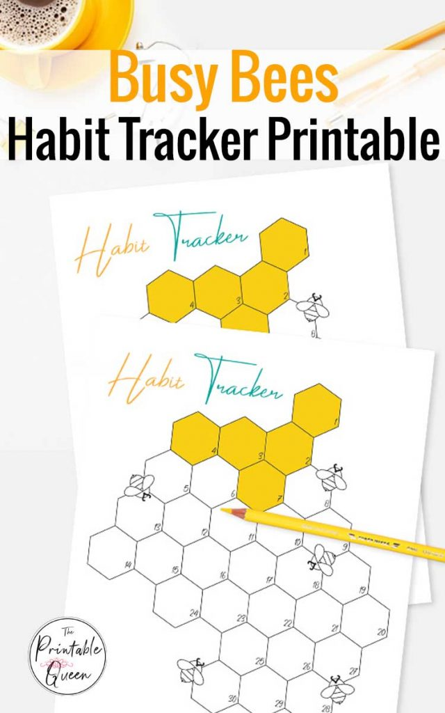 Busy Bee Habit Tracker Printable to Help You Form a New Habit