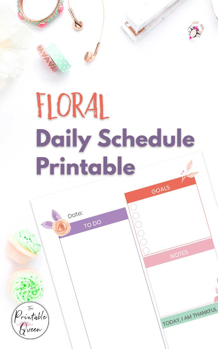 Floral Printable Daily Schedule