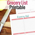 Simple Grocery List Printable