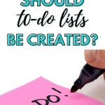 How Often Should To-Do Lists Be Created?